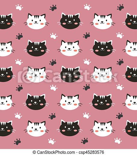 Cute Cat Pink Wallpaper