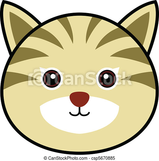 cute cat vector cute animal faces in one of 25 of them rh canstockphoto com cute kitty clipart cute cat clipart free