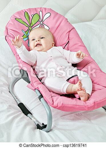 Cute child in his cradle - csp13619741