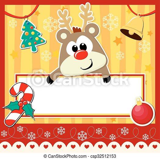 cute christmas card - csp32512153