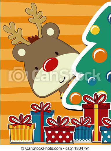 cute christmas card - csp11304791