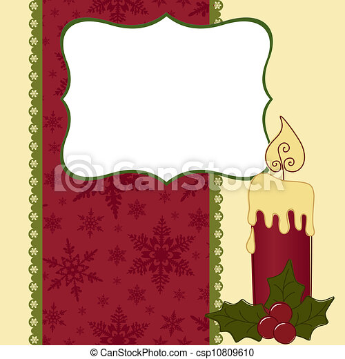 Cute christmas postcard template blank vector clip art - Search ...