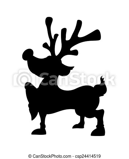 cute christmas reindeer shape cartoon xmas reindeer animal vector