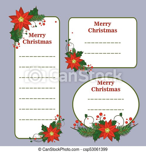 Cute christmas set with cards notes stickers labels tags with cute christmas set with cards notes stickers labels tags with winter christmas illustrations m4hsunfo
