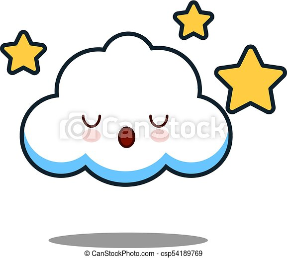 cute cloud kawaii face vector illustration design cute cloud rh canstockphoto com kawaii clipart png kawaii clipart free
