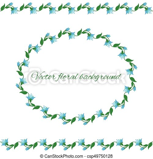 Cute Colored Floral Borders And Frame Set Collection Cute Floral