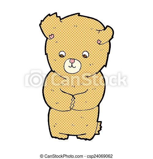 cute comic cartoon teddy bear - csp24069062
