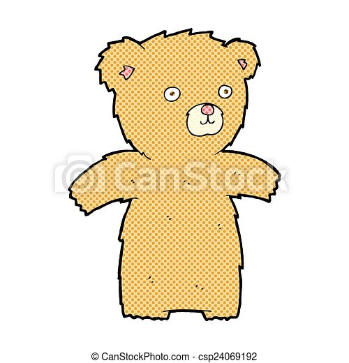 cute comic cartoon teddy bear - csp24069192