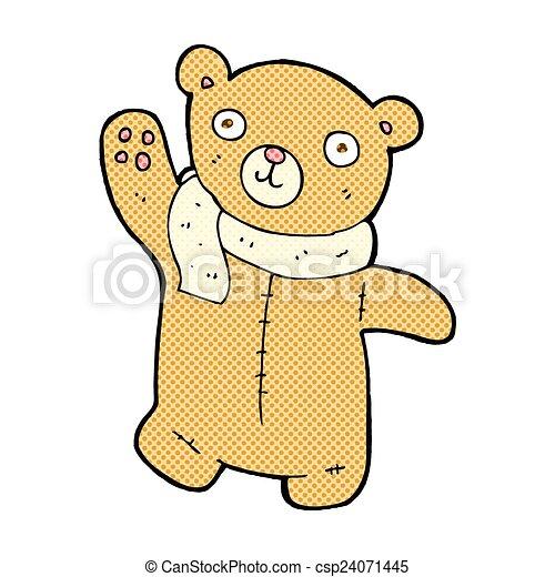 cute comic cartoon teddy bear - csp24071445