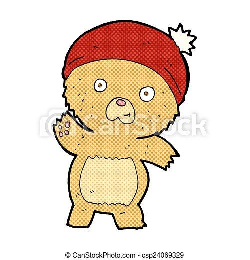 cute comic cartoon teddy bear - csp24069329