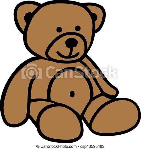 Cute comic teddy bear - csp43595483