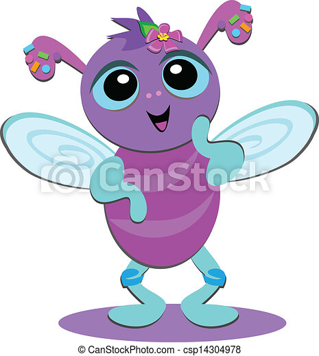 cute confetti bug this cute bug is decorated with confetti rh canstockphoto com cute bugs clipart