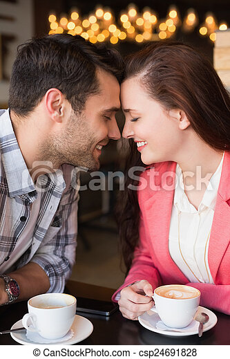 Cute couple on a date - csp24691828