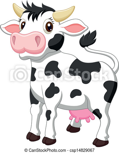 Cute cow cartoon  - csp14829067