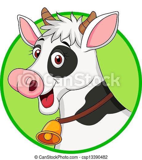 Cute cow cartoon  - csp13390482