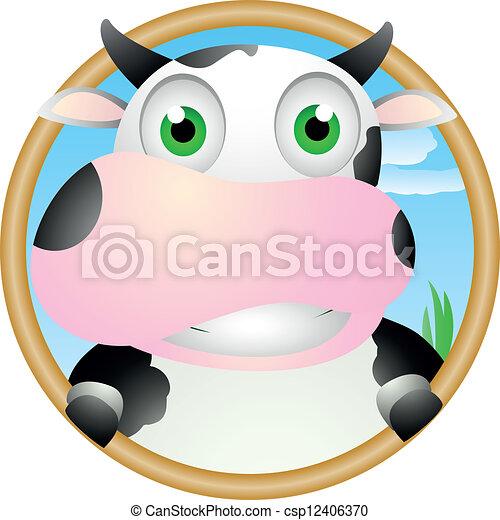 Cute Cow - csp12406370