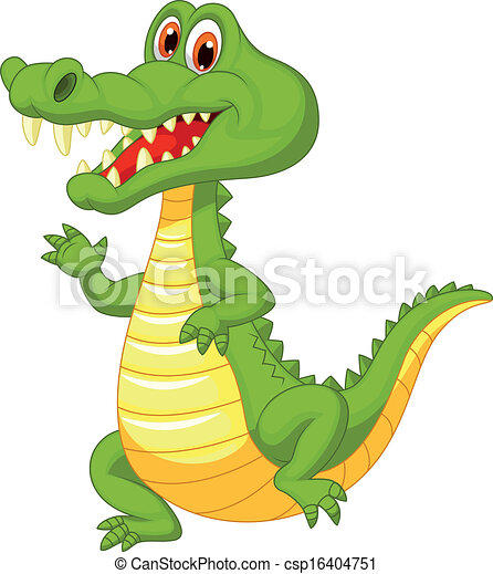Cute crocodile cartoon  - csp16404751