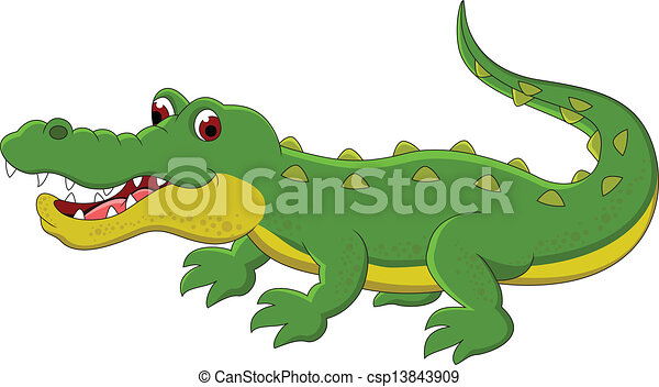 cute crocodile cartoon - csp13843909