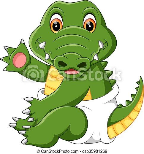 cute crocodile - csp35981269
