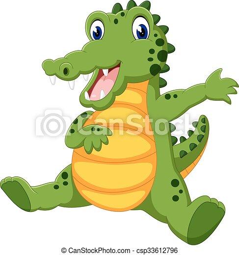 cute crocodile - csp33612796