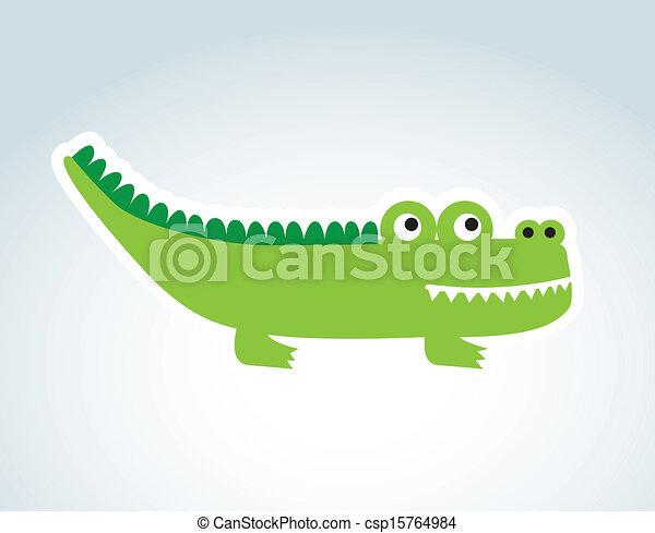 cute crocodile  - csp15764984