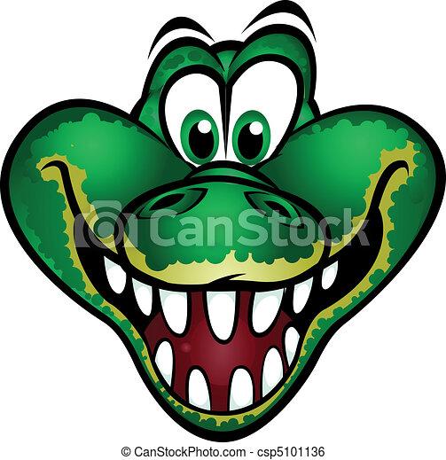 Cute Crocodile Mascot Cute Crocodile Head Mascot Separated Into