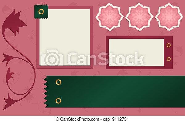 Cute Customizable Scrapbook Page - csp19112731