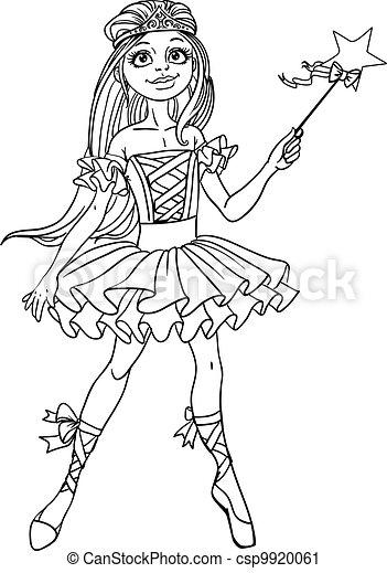 Cute dancing ballerina Fairy - csp9920061