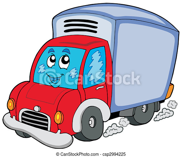 Cute delivery car - csp2994225