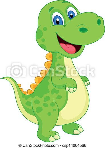 Cute dinosaur cartoon - csp14084566