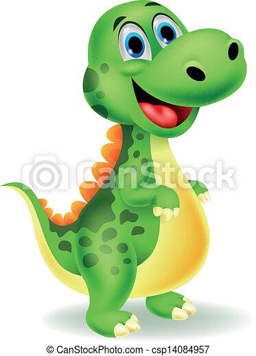 Cute dinosaur cartoon - csp14084957