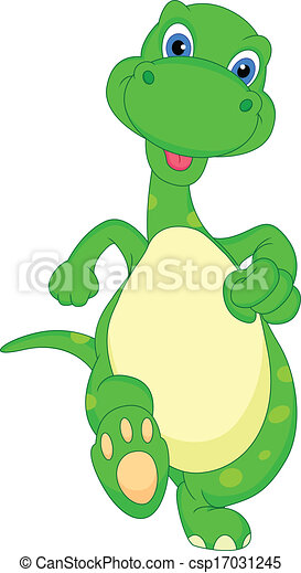 cute dinosaur cartoon - csp17031245