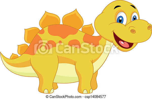 Cute dinosaur cartoon - csp14084577