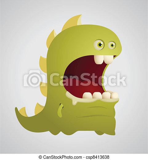 Cute Dinosaur - csp8413638