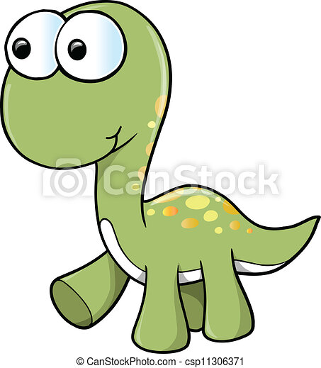 Cute Dinosaur Vector - csp11306371