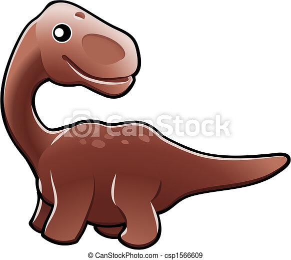 Cute diplodocus dinosaur illustration - csp1566609