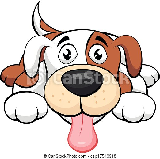 Cute dog cartoon - csp17540318