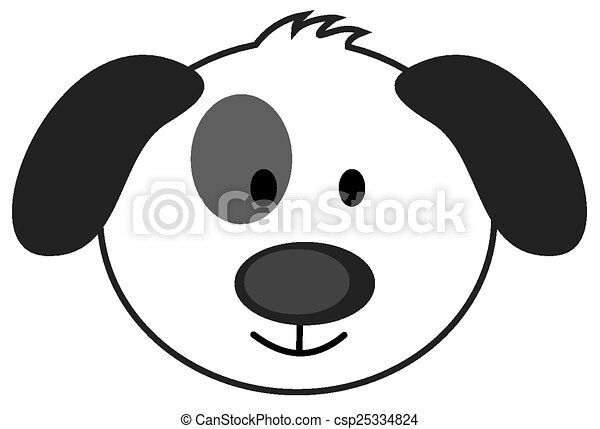 cute dog face vector illustration search clipart drawings and rh canstockphoto com dog face clipart black and white puppy dog face clipart
