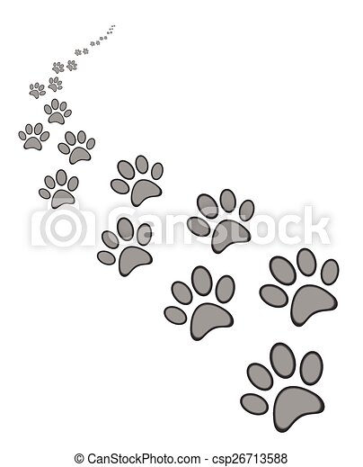 Cute dog or cat paw print - csp26713588