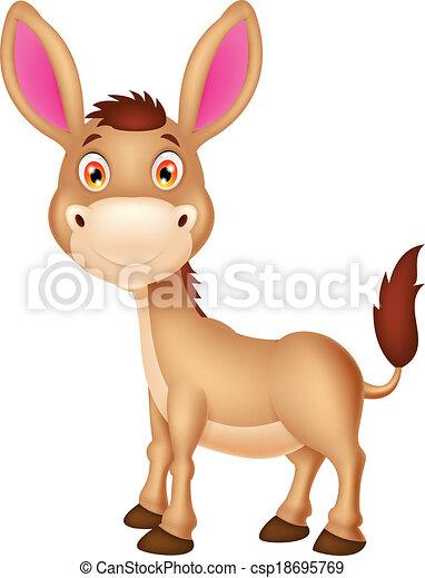 Cute donkey cartoon  - csp18695769