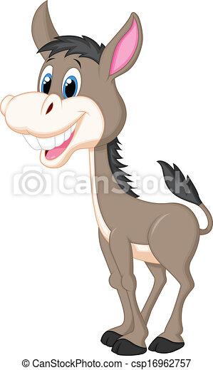 Cute donkey cartoon  - csp16962757