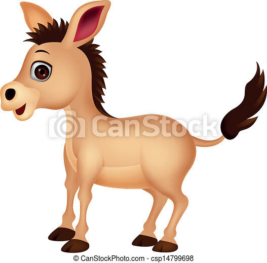 Cute donkey cartoon  - csp14799698