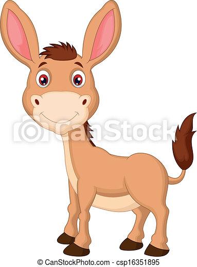 Cute donkey cartoon  - csp16351895