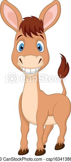 Cute donkey cartoon  - csp16341386
