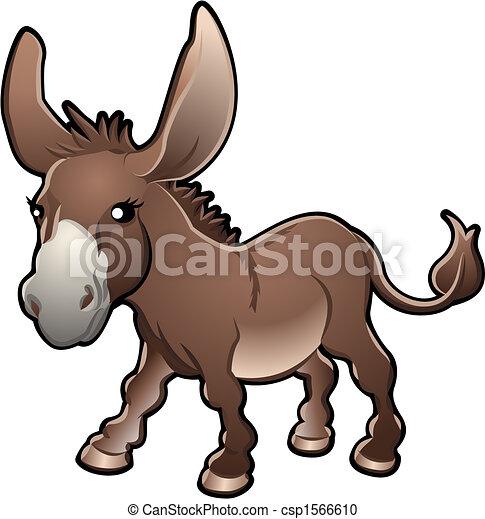 Cute Donkey Vector Illustration - csp1566610
