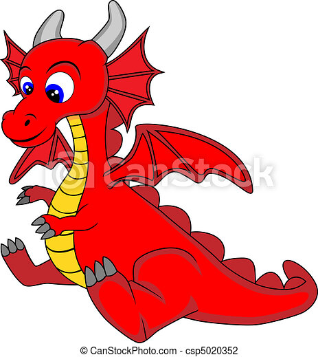 cute dragon vector illustration of a cute dragon no vector rh canstockphoto com cute dragon clipart black and white cute red dragon clipart