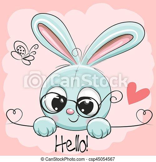 Cute Drawing Rabbit - csp45054567