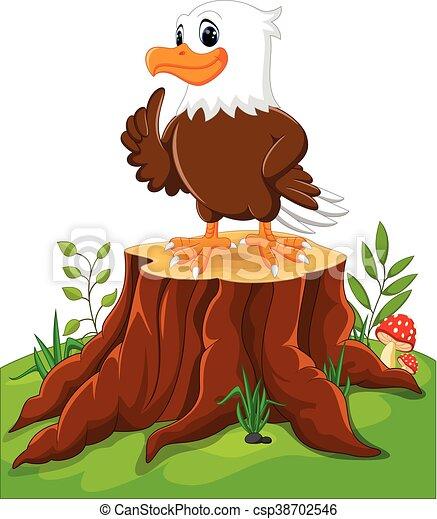 Cute eagle cartoon - csp38702546