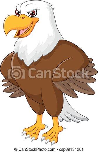 Cute eagle cartoon posing - csp39134281
