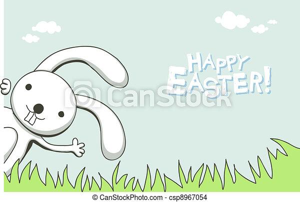 Cute Easter card - csp8967054